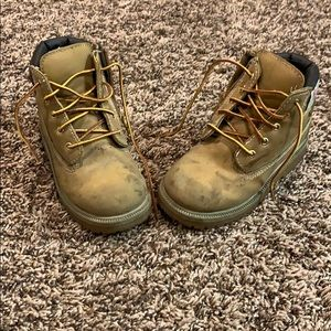 Little boys work boots